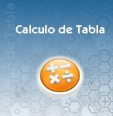 Calculo de Tabla
